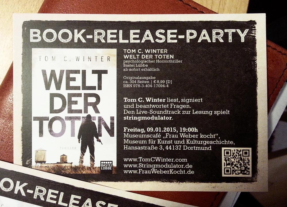 Book Release Flyer Foto 1